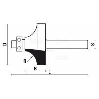 STEBELNI REZKAR ZA ZAOKROŽEVANJE ROBOV Z=2